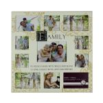 Cream Family Collage 11 photo picture frame 45 x 45 cm